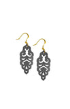 Filigree Earrings - Metallic Graphite - Mini - K. Johnson Jewelry LLC