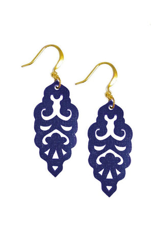 Filigree Earrings - Hawk Navy - Mini