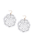 Mandala Earrings - Large - Bright White