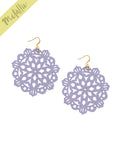 Mandala Earrings - Large - Lilac