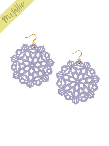 Mandala Earrings - Large - Lilac - K. Johnson Jewelry LLC