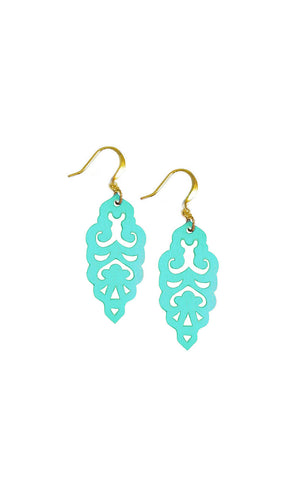 Filigree Earrings - Metallic Mardi Gras - Mini