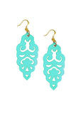 Filigree Earrings - Metallic Mardi Gras - Large - K. Johnson Jewelry LLC