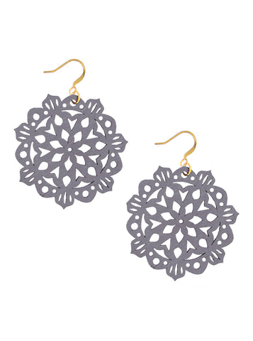 Mandala Earrings - Mini - Alloy Grey - K. Johnson Jewelry LLC