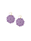 Mandala Earrings - Mini - Grape