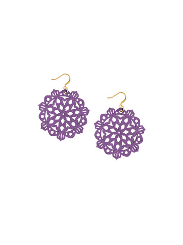 Mandala Earrings - Mini - Grape - K. Johnson Jewelry LLC