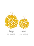 Mandala Earrings - Large - Mustard
