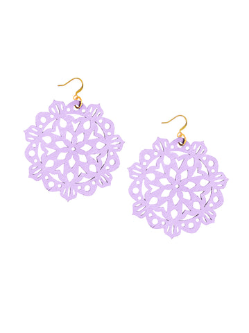 Mandala Earrings - Large - Party Hat - K. Johnson Jewelry LLC