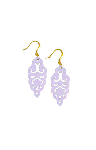 Filigree Earrings - Party Hat Purple - Mini