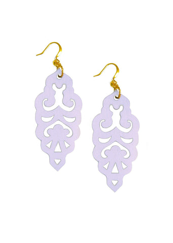 Filigree Earrings - Party Hat Purple - Large