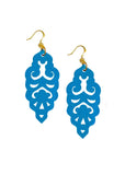 Filigree Earrings - Metallic Peacock - Large - K. Johnson Jewelry LLC