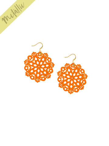 Mandala Earrings - Mini - Phoenix - K. Johnson Jewelry LLC