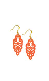 Filigree Earrings - Metallic Phoenix Orange - Mini - K. Johnson Jewelry LLC
