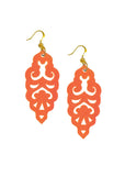 Filigree Earrings - Metallic Phoenix Orange - Large - K. Johnson Jewelry LLC