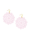 Mandala Earrings - Large - Pink Wink - K. Johnson Jewelry LLC