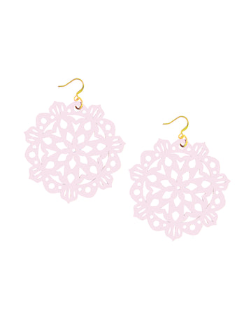 Mandala Earrings - Large - Pink Wink