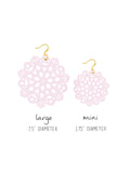 Mandala Earrings - Mini - Pink Wink - K. Johnson Jewelry LLC