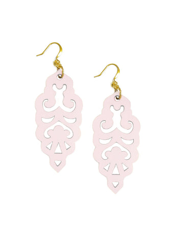 Filigree Earrings - Pink Wink - Large - K. Johnson Jewelry LLC