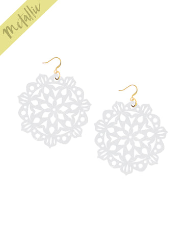 Mandala Earrings - Large - Pixie Dust - K. Johnson Jewelry LLC