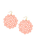 Mandala Earrings - Large - Poppin' Peach
