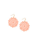 Mandala Earrings - Mini - Poppin' Peach