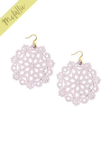 Mandala Earrings - Large - Rose Blush