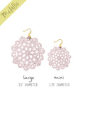 Mandala Earrings - Large - Rose Blush - K. Johnson Jewelry LLC