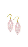Filigree Earrings - Metallic Rose Blush - Mini - K. Johnson Jewelry LLC