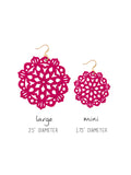Mandala Earrings - Large - Sangria