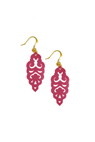Filigree Earrings - Sangria - Mini - K. Johnson Jewelry LLC