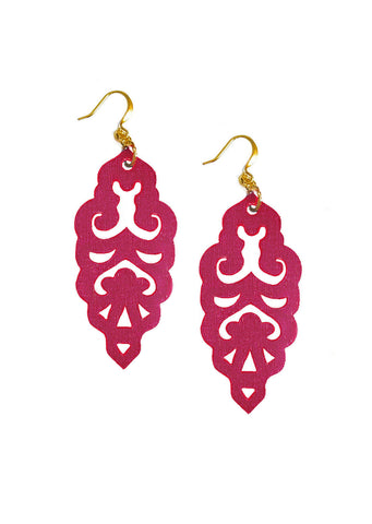 Filigree Earrings - Sangria - Large - K. Johnson Jewelry LLC