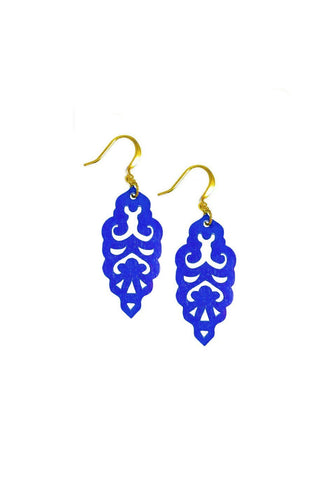Filigree Earrings - Sapphire - Mini - K. Johnson Jewelry LLC