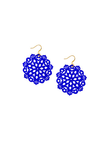 Mandala Earrings - Mini - Sapphire