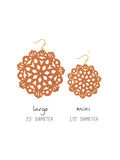 Mandala Earrings - Mini - Toasted Orange - K. Johnson Jewelry LLC