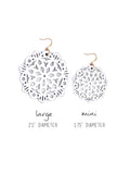 Mandala Earrings - Large - Bright White - K. Johnson Jewelry LLC