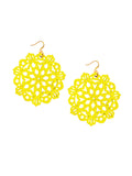Mandala Earrings - Large - Sunny Side