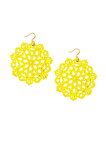 Mandala Earrings - Large - Sunny Side - K. Johnson Jewelry LLC