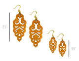 Filigree Earrings - Toasted Orange - Mini