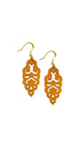 Filigree Earrings - Toasted Orange - Mini - K. Johnson Jewelry LLC
