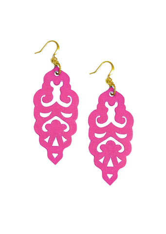Filigree Earrings - Tourmaline - Large - K. Johnson Jewelry LLC