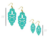 Filigree Earrings - Turquoise - Large - K. Johnson Jewelry LLC