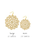 Mandala Earrings - Mini - Vanilla - K. Johnson Jewelry LLC