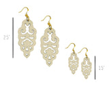 Filigree Earrings - Vanilla - Large - K. Johnson Jewelry LLC