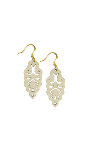 Filigree Earrings - Vanilla - Mini