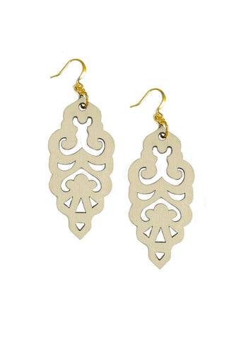 Filigree Earrings - Vanilla - Large