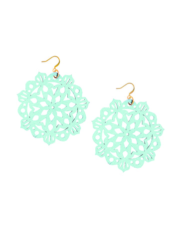 Mandala Earrings - Large - Wandermint - K. Johnson Jewelry LLC