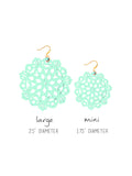 Mandala Earrings - Mini - Wandermint - K. Johnson Jewelry LLC