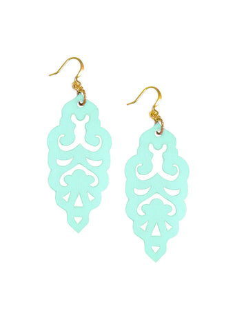 Filigree Earrings - Wandermint - Large - K. Johnson Jewelry LLC