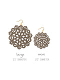 Mandala Earrings - Large - Warm Taupe