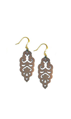 Filigree Earrings - Warm Taupe - Mini - K. Johnson Jewelry LLC